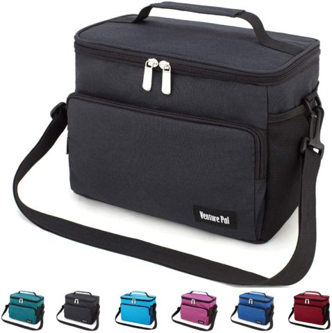 Leakproof Reusable Insulated Cooler Lunch Bag