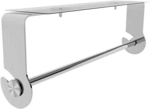 SMARTAKE Paper Towel Holder with Adhesive Under Cabinet