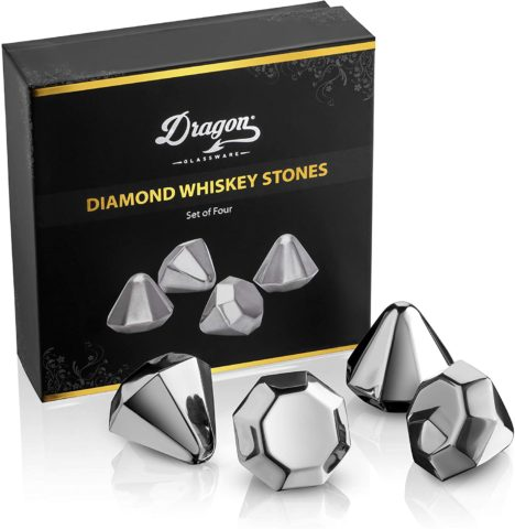 Dragon Glassware Diamond Whiskey Chilling Stones