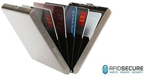RFID Blocking Stainless Steel Credit Card Protector