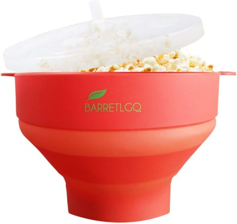 Silicone Microwave Popcorn Popper with Lid for Home Microwave Popcorn Makers